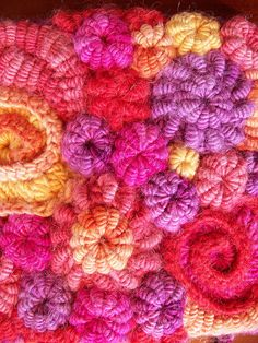 love these colours of free form crochet  <3