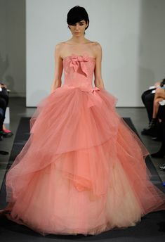 Top 10 Wedding Dress Trends for 2014 Colour - Vera Wang Fall 2014 Bridal Collection  http://chicvintagebrides.com/index.php/wedding-dresses/top-10-wedding-dress-trends-2014/