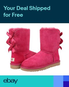 ee80771cb103df NEW WOMEN BOOT UGG AUSTRALIA BAILEY BOW RED VIOLET RVT 1002954 ORIGINAL SO  CUTE