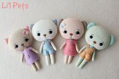 Gingermelon Dolls: Li'l Pets   http://www.pinterest.com/gingermelon/gingermelon-designs/
