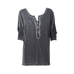 Burnout Henley Tunic (€25) ❤ liked on Polyvore featuring tops, shirts, t-shirts, blouses, short sleeve, henley tops, burnout shirt, henley shirt, shirts & tops and short sleeve tops