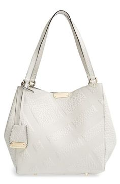 Burberry 'Small Cantebury' Check Embossed Leather Tote | Nordstrom
