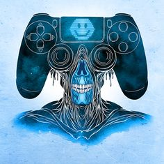 PS4Warrior Alex Pardee — CONSOLE WARRIORS #playstation #sony art