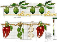 Cross Stitch Fruit, Cross Stitch Kitchen, Cross Stitch Love, Beaded Cross Stitch, Cross Stitch Borders, Cross Stitch Flowers, Cross Stitch Designs, Cross Stitching, Cross Stitch Embroidery