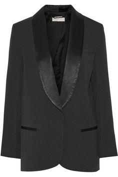 MICHAEL Michael Kors|Satin-trimmed crepe blazer|NET-A-PORTER.COM