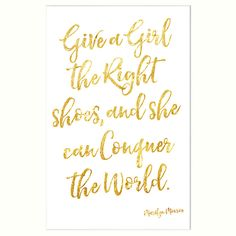 Buy John Lewis Give A Girl The Right Shoes Unframed Print, 30 x 40cm Online at johnlewis.com