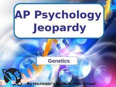 AP Psychology Jeopardy - Genetics #psychology #AP #genetics