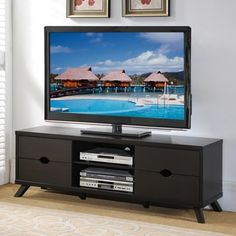 Shop for Furniture of America Deons Modern Cappuccino 4-drawer TV Console. Get free shipping at Overstock.com - Your Online Furniture Outlet Store! Get 5% in rewards with Club O!