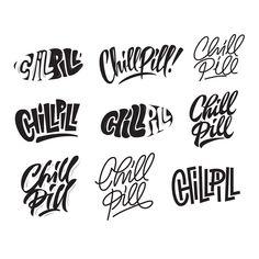 Lettering 2016 on Behance Truck Lettering, Types Of Lettering, Lettering Styles, Graffiti Lettering, Hand Lettering, Handwritten Typography, Print Fonts, Logo Design, Graphic Design