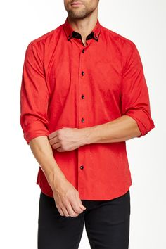 Long Sleeve Button-Down Semi-Fitted Shirt by Jared Lang on @nordstrom_rack