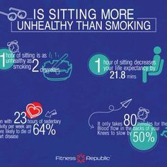 Is sitting more unhealthy than smoking?
