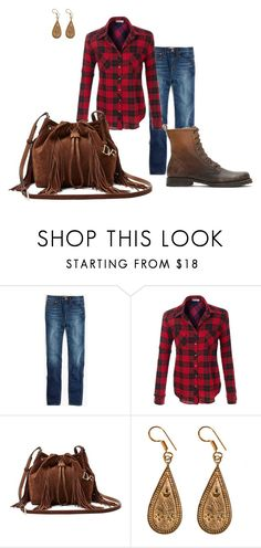 """Untitled #252"" by vickie-lyons-hall ❤ liked on Polyvore featuring Madewell, Diane Von Furstenberg, Urbiana and Frye"