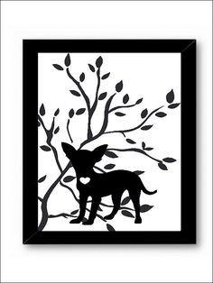 Chihuahua Dog Art Print, Modern Dog Art, Pet Lover Gift