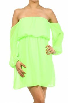 #salediem #fashion #summer  #dress   Off-the-shoulder blouse, flowy, lightweight, semi-sheer. long sleeve, elasticized waist trim.