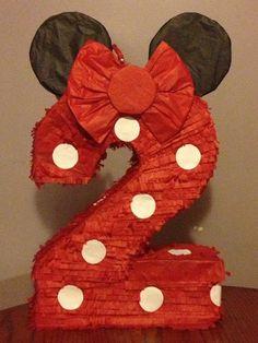 Piñata número 2 inspiración de ratón de minnie.