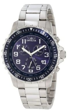 Amazon: Invicta Men's Stainless Steel Blue Dial Watch, just $59.99 shipped! (reg. $495.00)