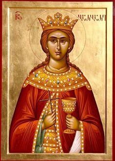 Ketevan the Queen of Georgia Saint Barbara, Saint A, Byzantine Icons, Art Icon, Orthodox Icons, Roman Catholic, Religious Art, Ikon, Christian