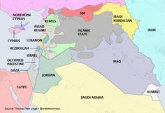 Years of war in the Middle East have erased old borders. Here is what the map currently looks like.