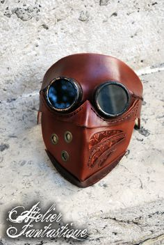 [Arakis] Steampunk goggles leather mask