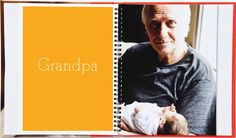 the big book of names and faces - great idea for baby book