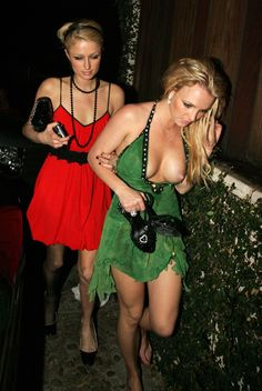 """pornwhoresandcelebsluts: """"More Britney Spears nip-slip boob slippage during her infamous drunken partying week with Paris Hilton back in 2006. Good times! """""""
