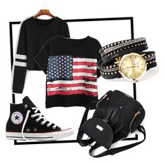 """""""Untitled #4228"""" by mariaisabel701 ❤ liked on Polyvore featuring Chicnova Fashion and Converse"""
