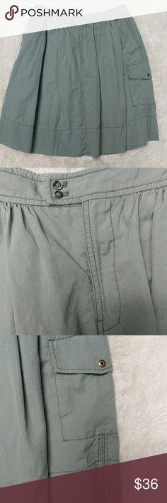 a452404a262 Maeve Cargo Skirt sz 12 GUC green cargo skirt with 3 pockets