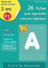 Apprendre à Écrire l'alphabet en Maternelle PS - Exercices d'écriture dès 3 ans