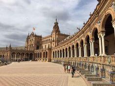 Plaza Espana Seville's impressive expo palace curves around the square