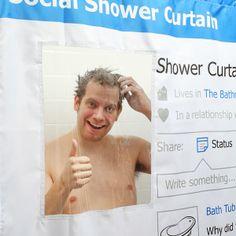 Cortina de chuveiro Social Media