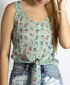 Owl Crop Top