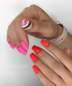 Модный летний маникюр 2019-2020 года, фото, дизайн, идеи летнего маникюра Nail Designer, Nails Inspiration, Makeup Techniques, Manicure, Hair Beauty, Nail Art, How To Make, Fashion, Finger Nails