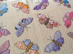 Feedsack Butterfly Quilt