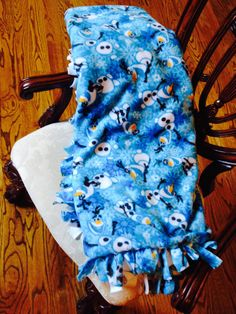 Frozen Olaf fleece tie blanket No Sew Fleece by sweetbowsandmore, $45.00