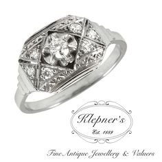 CUSTOM ART DECO INSPIRED RING. This Art Deco inspired ring can be customized to include any combination of diamonds and/or gemstones such as sapphires, rubies, emeralds, birthstones, anniversary stones, etc & can be crafted in 9ct or 18ct white, rose or yellow gold, platinum or sterling silver. Prices vary depending on your unique specifications, please don't hesitate to contact us for a quote tailored for you. Visit us at www.klepners.com.au