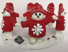 Dept 56 BILLY BUTTONS Candle Ring Huricane Snowman Red Hat Scarf 6 In Circle