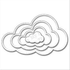"""Buy Die-Namics Dies - Jumbo Cloud STAX Set of 4 Nested Dies from CreateAndCraft.tv  £26.99   1"""" to 5.75"""""""