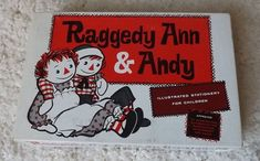 RARE Vtg 1961 MIB Raggedy Ann & Andy Childrens Stationary COMPLETE  #JOHNNYGRUELLECO Ann Doll, Raggedy Ann And Andy, Stationary, Dolls, Chair, Vintage, Puppet, Doll, Chairs