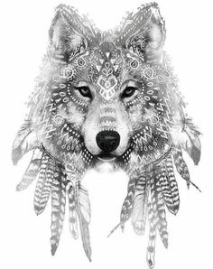 [ 45 idées de tatouage de loup 45 tattoo ideas of wolf tattoo ideas Wolf Tattoos, Animal Tattoos, New Tattoos, Body Art Tattoos, Sleeve Tattoos, Tatoos, Skull Tattoos, Cross Tattoos, Spirit Animal Tattoo