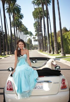 Empire Cutout Prom Dress by Camille La Vie & Group USA modeled by Janel Parrish of Pretty Little Liars