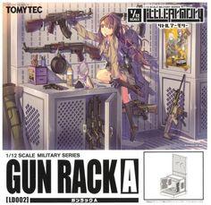 Tomytec Little Armory LD002 1/12 Gun Rack A Plastic Model Kit Figma Size