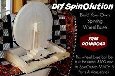 Build your own spinning wheel base ! Diy Spinning Wheel, Spinning Wool, Hand Spinning, Spinning Wheels, Peg Loom, Yarn Bombing, Woodworking Supplies, Custom Wheels, Hand Dyed Yarn