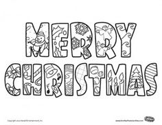 7 Best Merry Christmas coloring pages images | Coloring books ...
