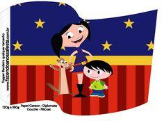 Bandeirinha Sanduiche Show da Luna Azul e Vermelho