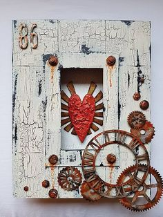 Create a spectacular piece of wall art using this Box Frame kit from Tando Creative, designed by Andy Skinner, and painted with a range of techniques using DecoArt Media.