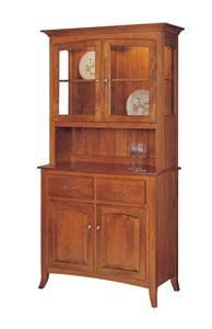 Amish Manchester 2-Door Hutch - Keystone Collection