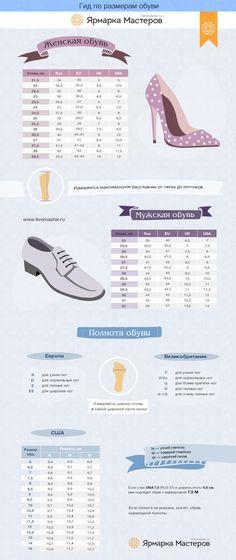 Гид по размерам обуви - Ярмарка Мастеров - ручная работа, handmade