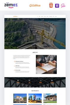 Construction Services Landing Page HTML template