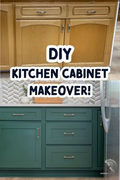 Easy DIY Kitchen cabinet makeover with paint and new doors and drawer faces. Great budget-friendly update to the kitchen. #anikasdiylife Diy Cabinet Refacing, Refacing Kitchen Cabinets, Cabinet Makeover, Diy Cabinets, Painting Kitchen Cabinets, Diy Kitchen Remodel, Condo Kitchen, Kitchen Makeovers, New Cabinet Doors