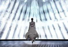 A model walks the runway during the Gareth Pugh Ready to Wear Spring / Summer 2012 show during Paris Fashion Week at Garage Turenne on Sep. 28, 2011 in Paris, France.